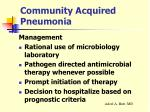 community acquired pneumonia19
