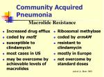 community acquired pneumonia24