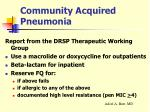 community acquired pneumonia30