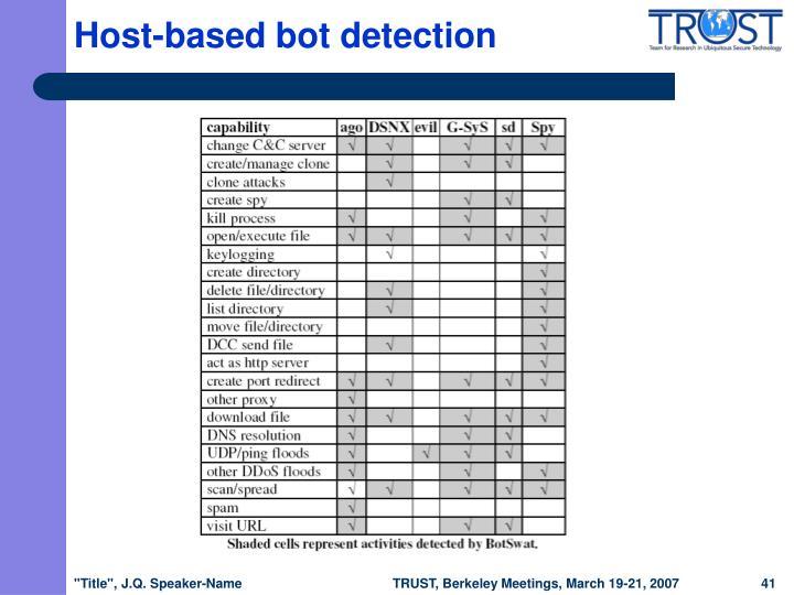 Host-based bot detection
