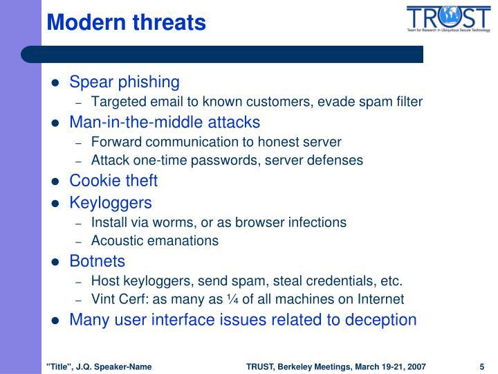 Modern threats