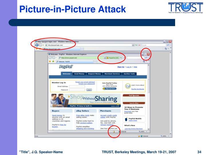 Picture-in-Picture Attack