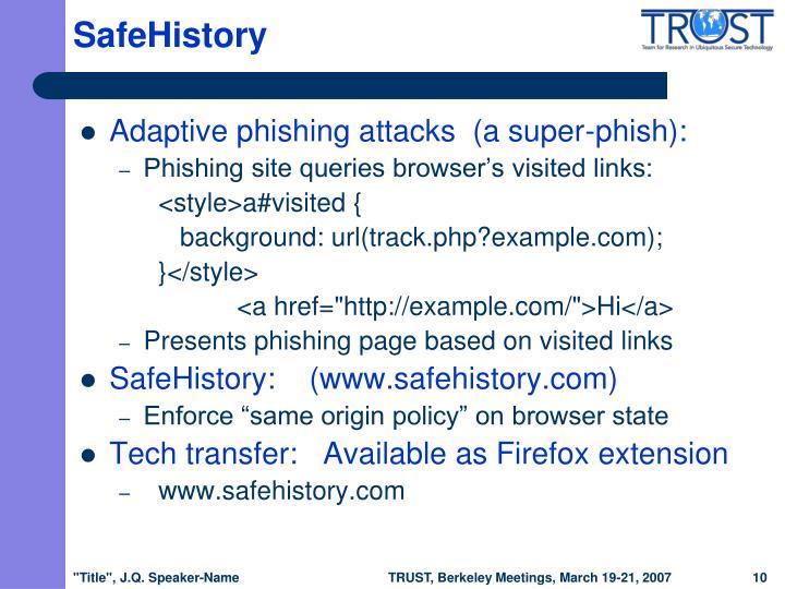 SafeHistory