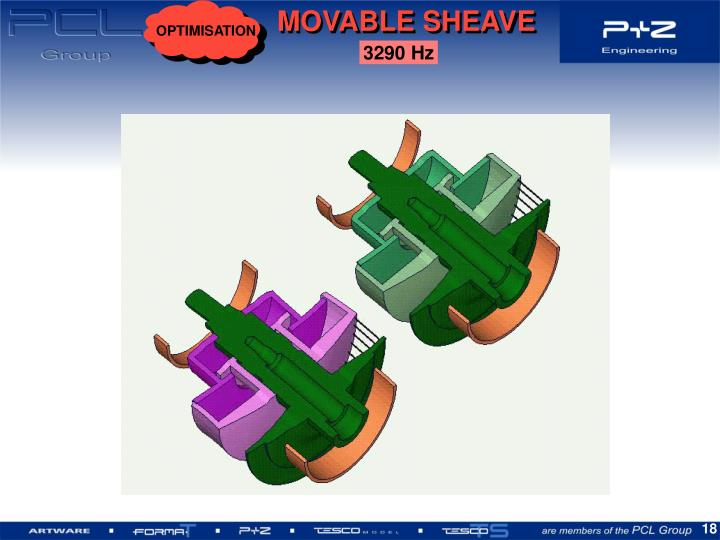 MOVABLE SHEAVE