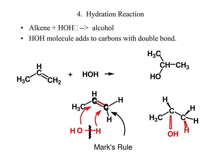4.  Hydration Reaction