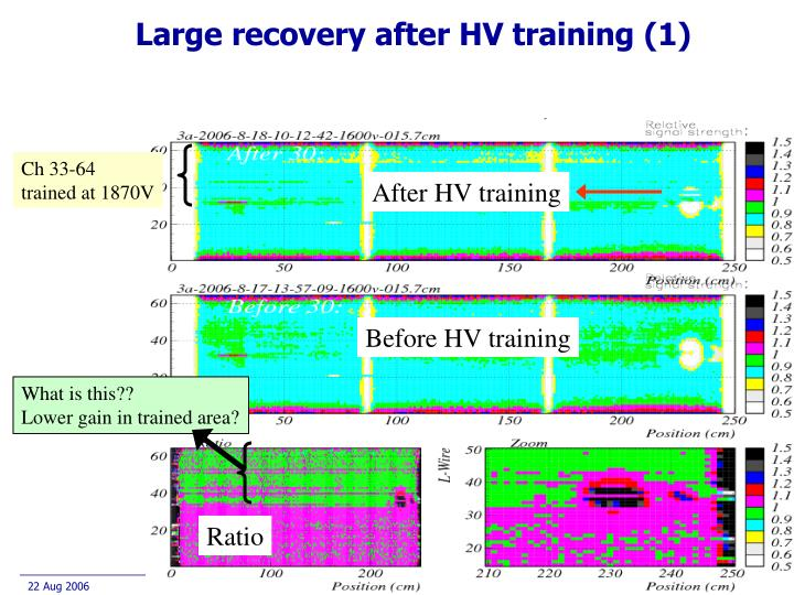 Large recovery after HV training (1)
