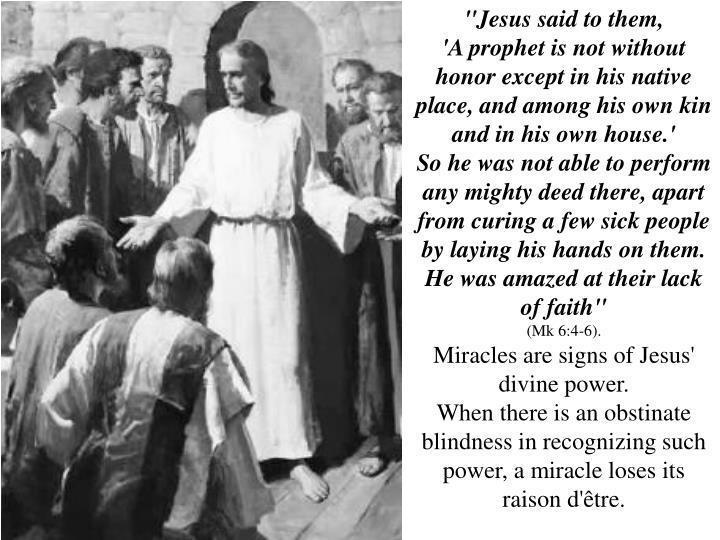 """""""Jesus said to them,"""