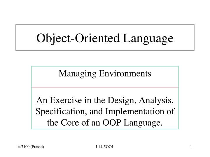object oriented language n.