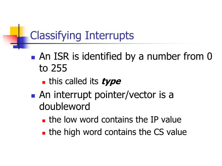 Classifying Interrupts