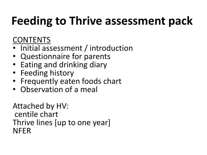 Feeding to Thrive assessment pack