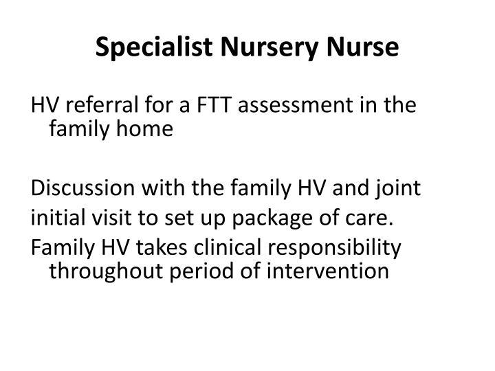 Specialist Nursery Nurse