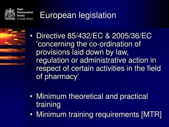 European legislation