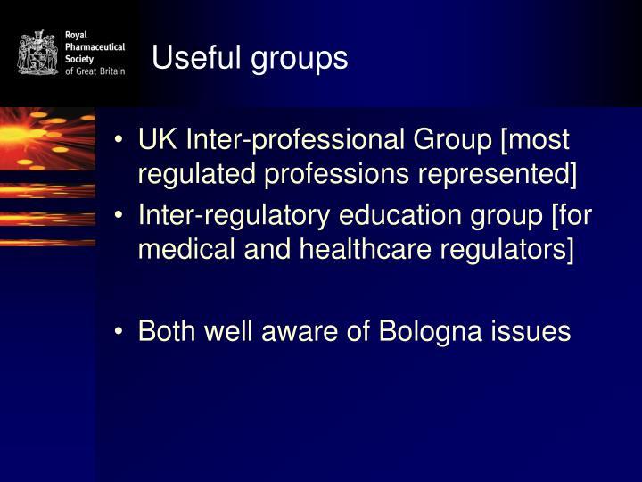 Useful groups