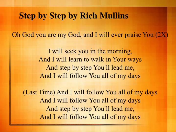 Step by Step by Rich Mullins