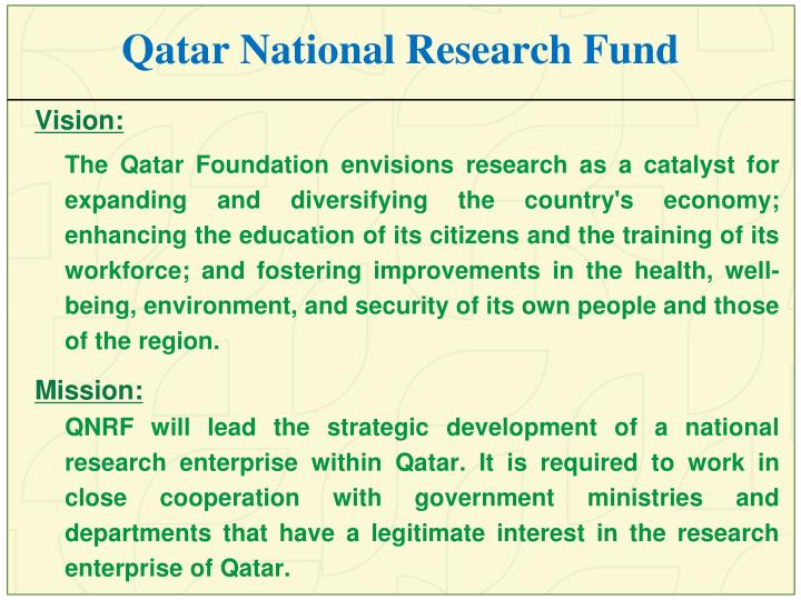 Qatar National Research Fund