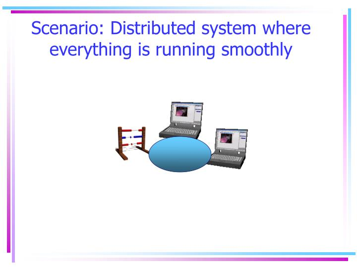Scenario distributed system where everything is running smoothly