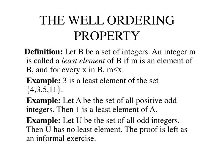 The well ordering property