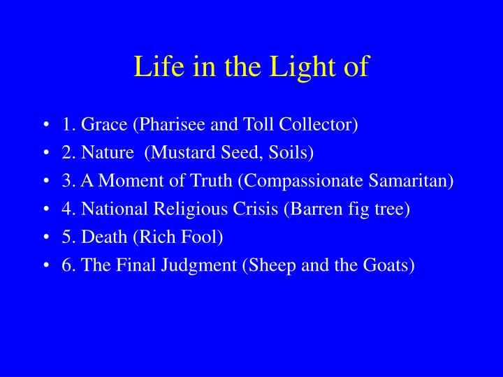 Life in the Light of