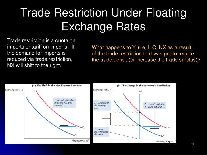 Trade Restriction Under Floating Exchange Rates