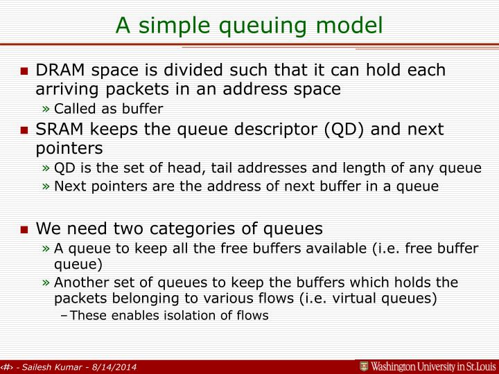 A simple queuing model