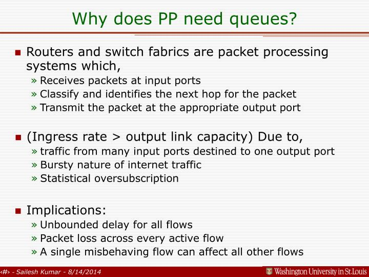 Why does PP need queues?