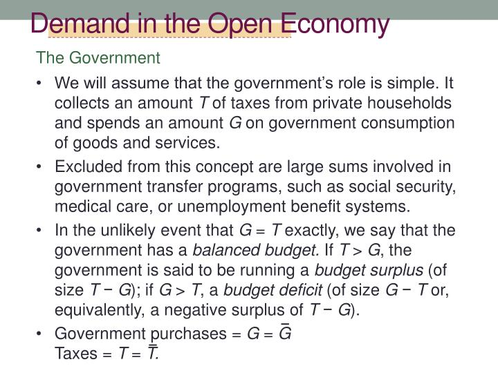 Demand in the Open Economy
