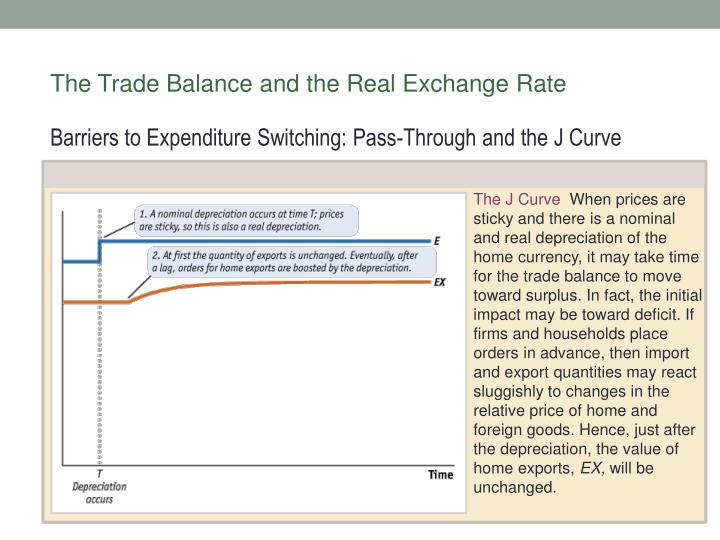 The Trade Balance and the Real Exchange Rate