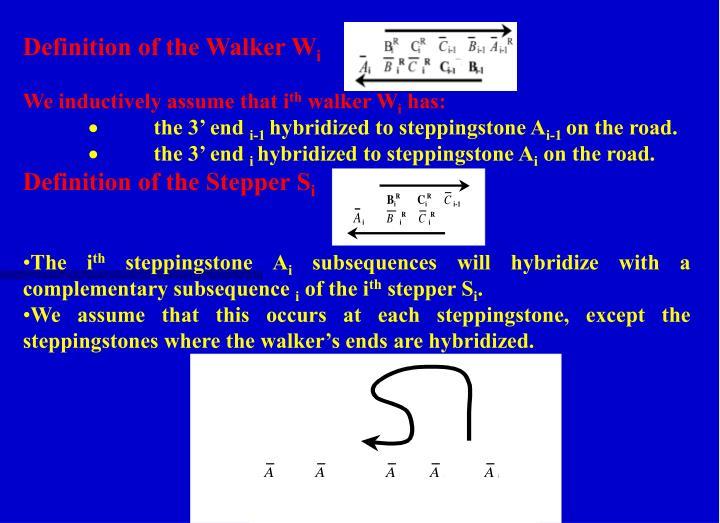 Definition of the Walker W