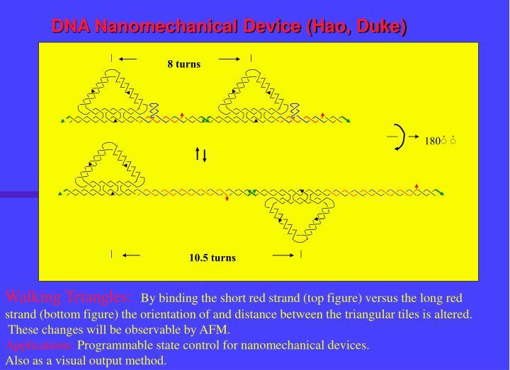 DNA Nanomechanical Device (Hao, Duke)