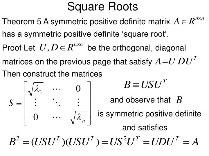 Square Roots