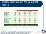 doctor shortages in africa in 2015 cont