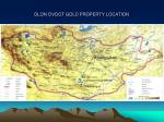 olon ovoot gold property location