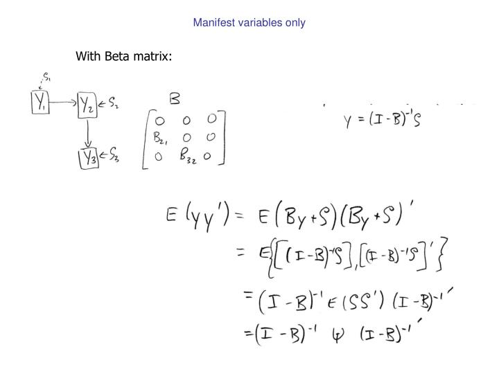 Manifest variables only