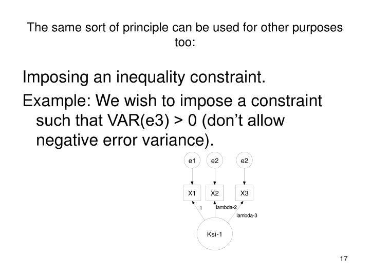 The same sort of principle can be used for other purposes too: