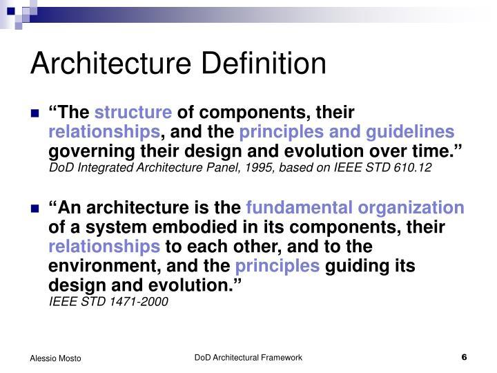 Ppt dod architecture framework overview powerpoint for Architecteur definition