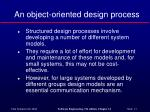 an object oriented design process
