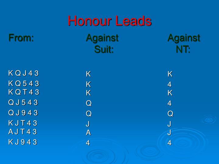 Honour Leads