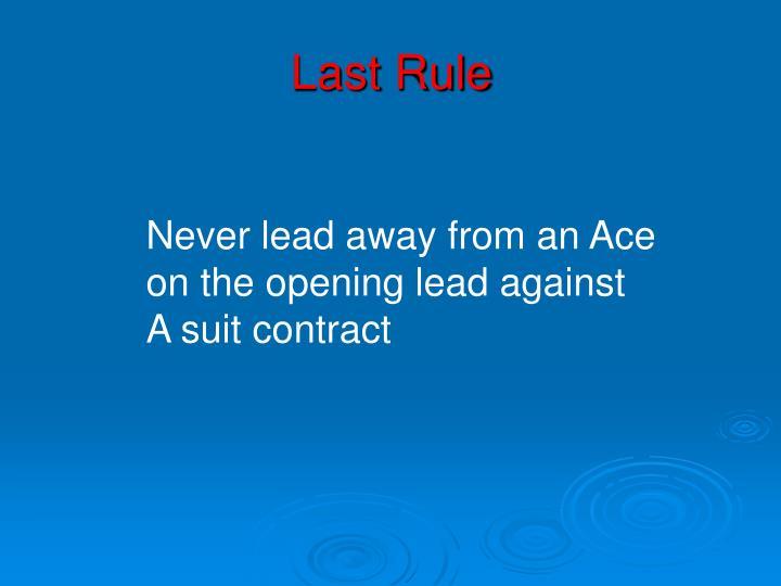 Last Rule