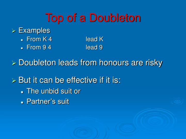 Top of a Doubleton