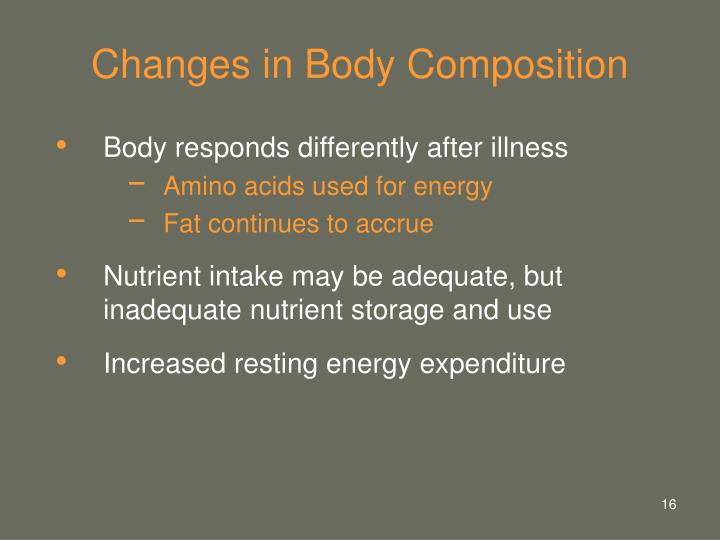 Changes in Body Composition