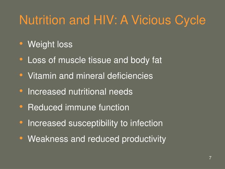 Nutrition and HIV: A Vicious Cycle