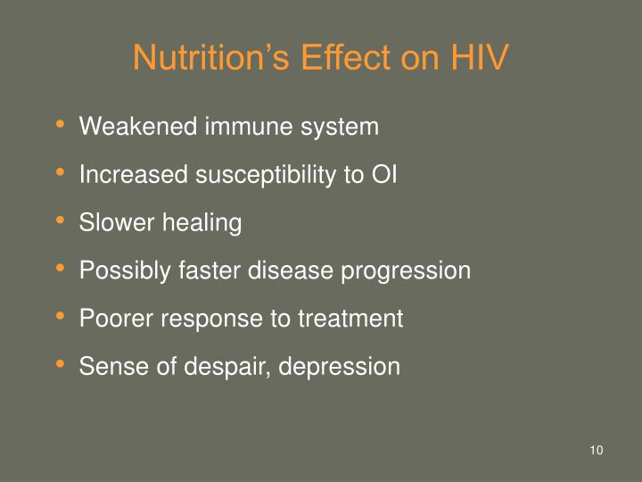 Nutrition's Effect on HIV