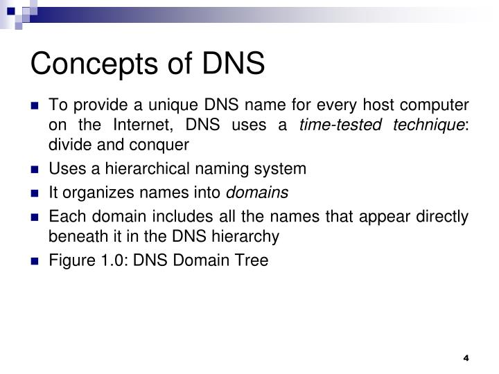 Concepts of DNS