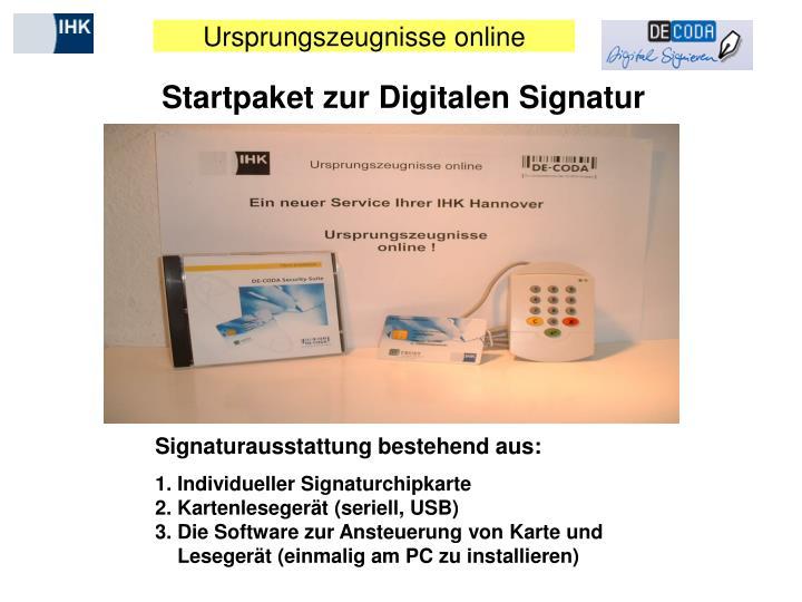 Startpaket zur Digitalen Signatur