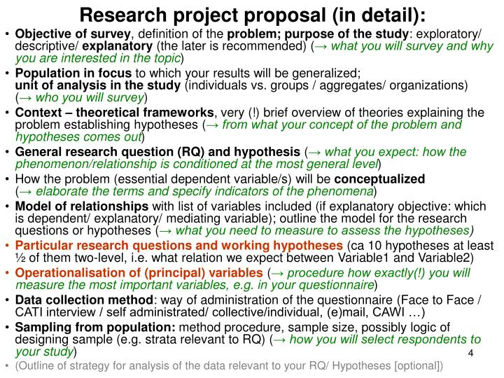 Research project proposal (in detail):