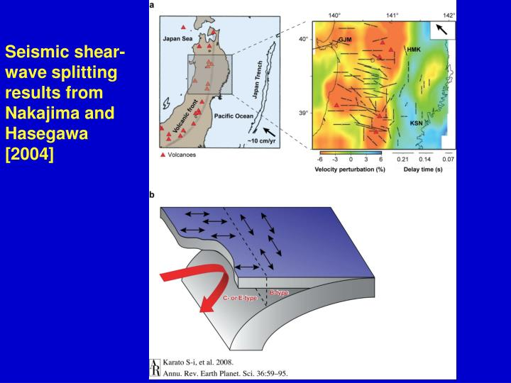 Seismic shear-wave splitting results from Nakajima and Hasegawa [2004]