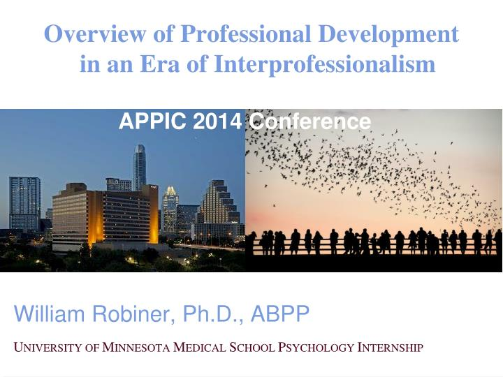 overview of professional development in an era of interprofessionalism n.