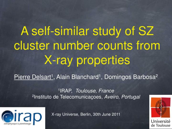 a self similar study of sz cluster number counts from x ray properties