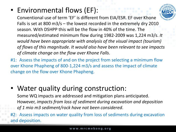 Environmental flows (EF):