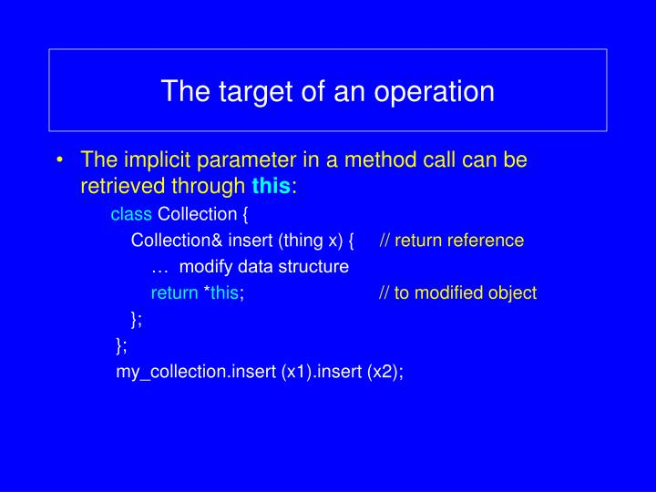 The target of an operation